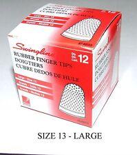 Rubber Finger Tips(Thimbles),Size-13 (Large),Qty=12