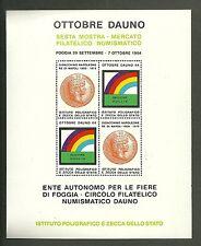 FOGLIETTO IPZS 1984 OTTOBRE DAUNO A FOGGIA GIOACCHINO NAPOLEONE RE DI NAPOLI