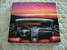 AUDI OFFICIAL TT A4 A6 S6 A8 S8 FULL PRESS DOUBLE CD ROM BROCHURE 2003 USA