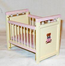 Nursery Crib Dollhouse Furniture Miniatures