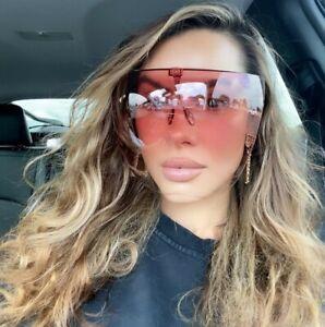 OVERSIZED Huge Big MASK SHIELD FULL FACE  Large GRADIENT Sunglasses SHADZ