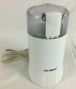 Mr. Coffee White Electric Wired Coffee Bean Grinder (IDS-55) 120V 60Hz 130WATTS