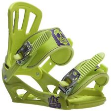 New 2016 Rossignol Battle V2 Snowboard Bindings Size M/L Lime