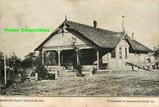 Georgia, GA, Demorest, Railroad Depot 1910PM Postcard
