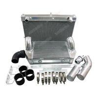 Intercooler Radiator 26x17x6.5 V-Mount kit For 92-02 RX7 FD Turbo Black Hose
