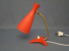 années 50 années krähenfuss Lampe de table avec foncé pastellrotem schrumpellack