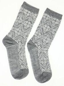 Smartwool 272455 Women's Snowflake Merino Wool Crew Socks Size Medium