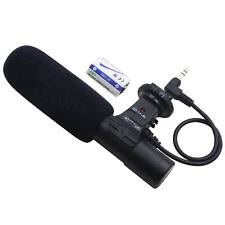 STOCK 3.5mm Recording Microphone Mic for Canon Nikon Camera Video Camcorder