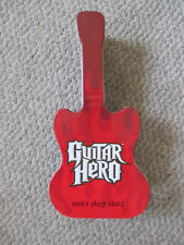 """Guitar Hero Collectible Tin only from sleep shorts packaging Red shaped box 10"""""""