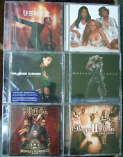 6 SEALED MUSIC CD LOT - BOYZ II MEN,MARIAH CAREY, DESTINY CHILD, BLACK EYED PEAS