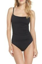 La Blanca Island Goddess One Piece Swimsuit: Size 8: Black (123)