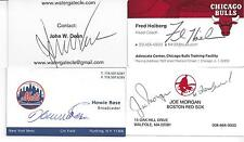 FORMER BOSTON RED SOX MANAGER JOE MORGAN SIGNED BUSINESS CARD