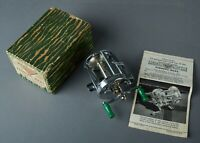 Vintage  Pflueger Akron Fishing Reel Model # 1893 Bait Casting in Box W/ Papers