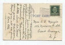 Poughkeepsie NY to East Orange NY Postcard 5/3/40 Audubon 874 Mid-Hudson Bridge