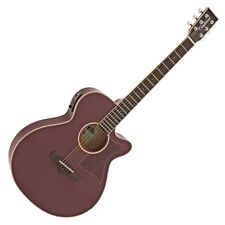 Tanglewood TW4 Winterleaf Series Electro Acoustic Guitar, Burgundy Red Gloss