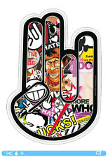 THE SHOCKER HAND Sticker bombed bomb OEM JDM DUB Tuning Style Aufkleber