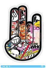 THE SHOCKER HAND Sticker bombed bomb OEM JDM DUB Tuning Style Aufkleber