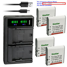 900 mAh 1x Charger Replacement for Casio Exilim EX-Z28SR BattPit trade; New 2x Digital Camera Battery