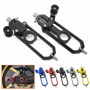 CNC Rear Axle Block Chain Adjusters Tensioner For BMW S1000RR 2009-2014 S1000R