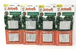 Lot of (4) Fertilizer Spikes For Houseplants Jobes #05001T, 50 Spikes ea. (Y5)