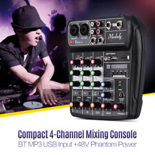 More details for professional bt music mixer sound mixing console 4 channels for studio recording