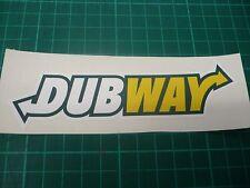 DUBWAY VW Sticker