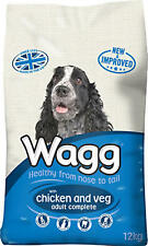 Wagg Dry Dog Food Complete Chicken and Veg 12kg No Artificial Colours Flavours