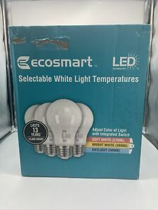 Lot of 36- 60-Watt Equivalent A19 Dimmable LED Bulb, Selectable CCT (4-Packs)