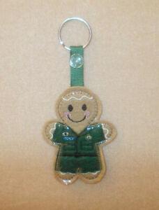 Paramedic Gingerbread Felt Keyring/Bag Charm.  Embroidered Appliqué - Handmade