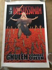 """Ghuleh Zombie Queen Infestissumam Limited Edition of 10 Sold Out Size 11"""" x 17""""B"""