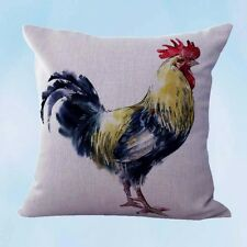 US Seller-decorative cushion coverfarmhouse animal rooster chicken cushion cover