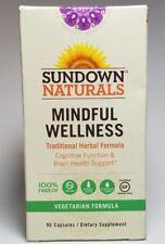 Sundown Naturals Ayurvedic Mindful Wellness Balance Brain Health 90 Capsules