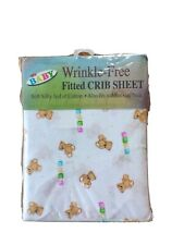 My Baby Fitted Crib Sheet, Bears/blocks New In Package Unisex Sheet
