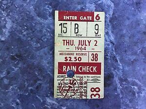 Old New York Yankees  Ticket Stub  - July 2  1964      Mantle/Maris