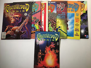Grateful Dead Comix Kitchen Sink Magazine Vol 1 Issues 1-6 Vol 2 Issue 1 Garcia