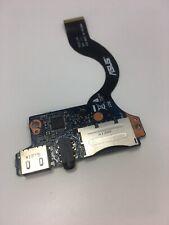 ASUS UX31E USB Audio SD Card Port Board w/ Cable 69N0LYA10D01 60-N8NAU1000 (12)