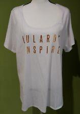 LULAROE Women's White T-Shirt Plus Size 3XL Gold Lettering Short Sleeve NWOT