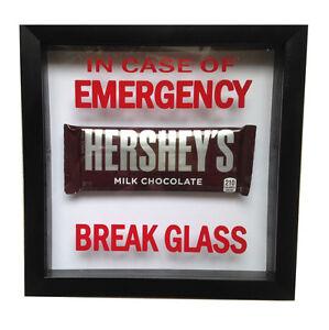 In Case Of Emergency - Break Glass . RED gag gift prank office VINYL DECAL ONLY