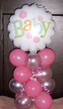 """18"""" FOIL BALLOON TABLE DISPLAY DECORATION AIR FILL - NEW BABY SHOWER FLOWER"""