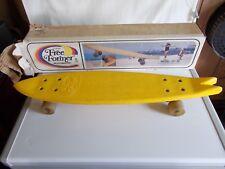 Vintage Free Former 26 Inch Split Tail Banana Yellow Skateboard w/ Original Box