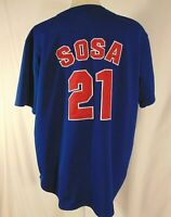 Sammy Sosa #21 Chicago Cubs Jersey Mens Size XL MLB True Fan Sewn Blue