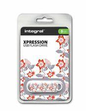 Integral USB 2.0 Expression Flash Drive - 8GB Floral 1 . INFD8GBXPRFLOR1
