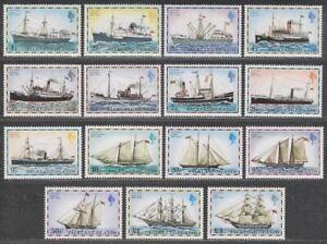 Falkland Islands 1978 Mail Ships No Imprint Set Mint SG331A-345A cat £21