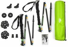 Durable Aluminum Compact Folding Collapsible Trekking Hiking Poles