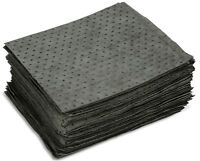 UNIVERSAL GRAY BONDED ABSORBENT PADS- UQEP100 - OIL GREASE (100 PER CASE)