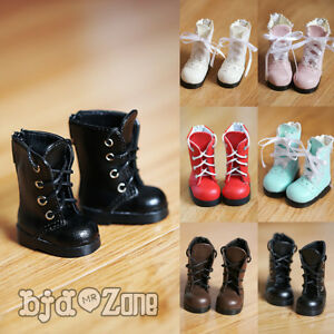 BJD doll Shoes YOSD 1/6 4*2cm Black Boots British style Canister Boots in Straps