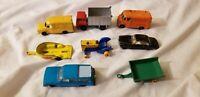 Lot 8 Matchbox Lesney England Cars Trucks trailer tractor