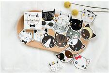 45Pc = 1 Pk Kitten Cat Animal Paper Box Sticker / Bag Sealer / Scrapbook Decor