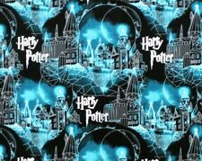 FAT QUARTER HARRY POTTER FABRIC  HOGWARTS MOON  CASTLE  MAGIC CAMELOT COTTON  FQ