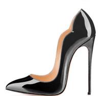 Women's Chic Super High Stiletto Heel Shoes Pumps Pointed Toe Slip On Nightclub
